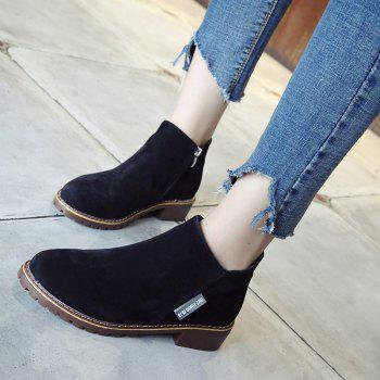 Winter New British Style Martin Short Boots Fashion Women's Shoes - BLACK BLACK