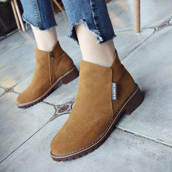 Winter New British Style Martin Short Boots Fashion Women's Shoes - BROWN 39