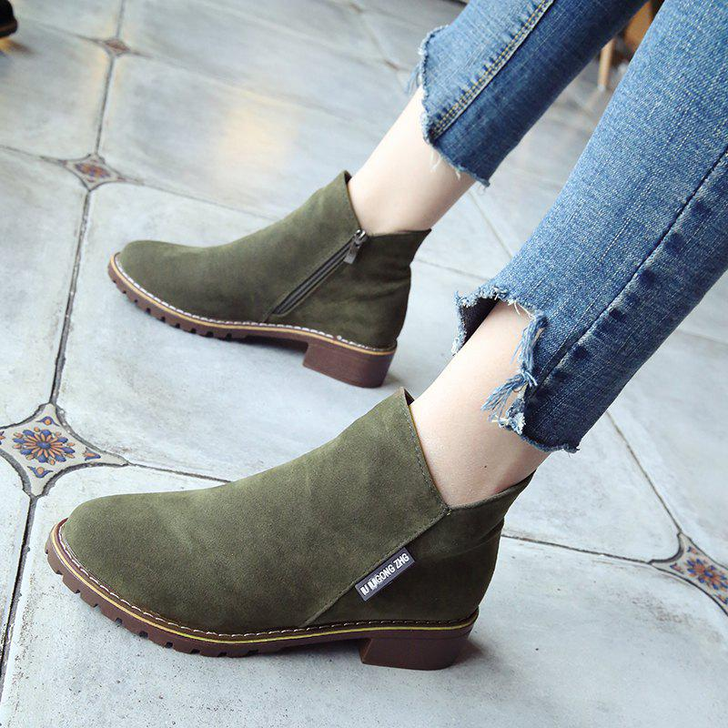 Winter New British Style Martin Short Boots Fashion Women's Shoes - FERN 37