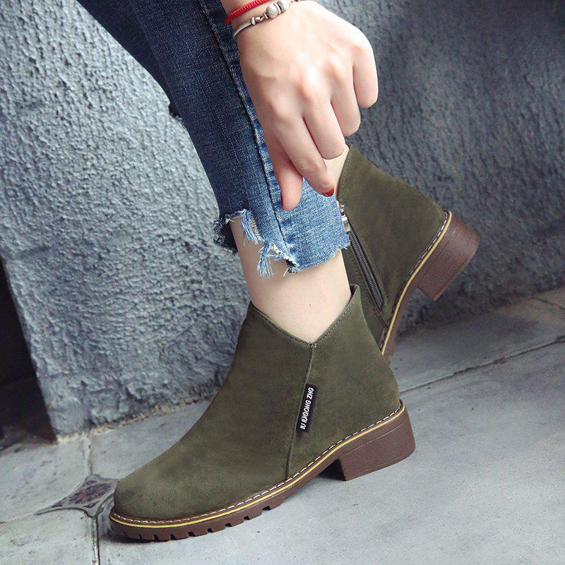 Winter New British Style Martin Short Boots Fashion Women's Shoes - FERN 38