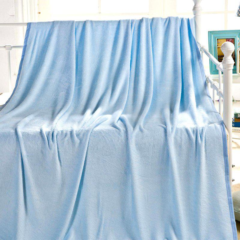 Soft Bamboo Fiber Warp Knitting Blanket - BLUE
