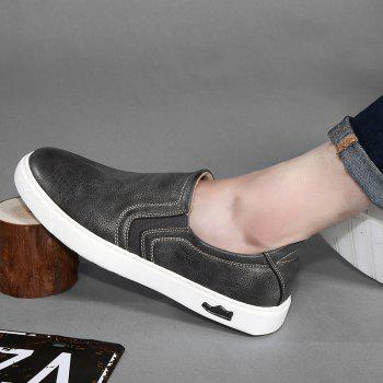 Bullock Men's Leisure Fashion Shoes Foot Thick Bottom Sleeve - GRAY 39