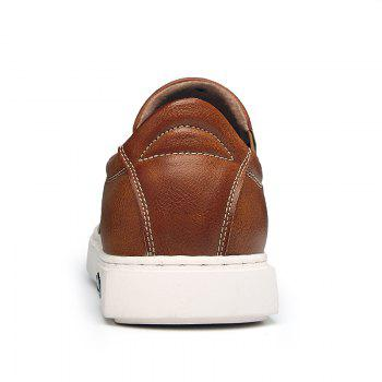 Bullock Men's Leisure Fashion Shoes Foot Thick Bottom Sleeve - BROWN 42