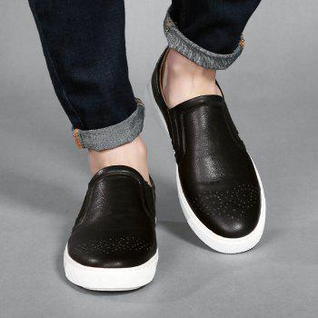 Bullock Men's Leisure Fashion Shoes Foot Thick Bottom Sleeve - BLACK BLACK