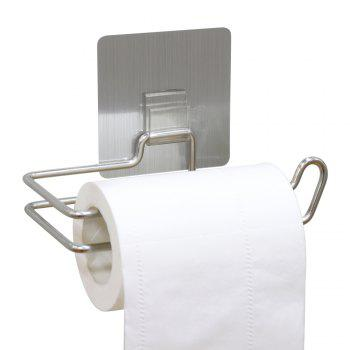 Reusable Stainless Steel Toilet Paper Holder Wall Mounted Bathroom Towel Dispenser - BRUSHED SILVER