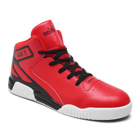 New Men's Running Shoes Men  Sneakers Mesh Breathable Casual Sport - RED 42