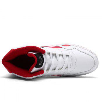 New Men's Running Shoes Men Fashion Sneakers Mesh Breathable Casual Sport Outdoor - RED 40