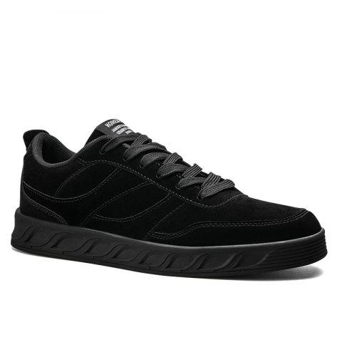 Super Men's Running Shoes Men Fashion Sneakers Mesh Breathable Casual - BLACK 44