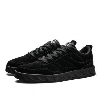 Super Men's Running Shoes Men Fashion Sneakers Mesh Breathable Casual - BLACK 41