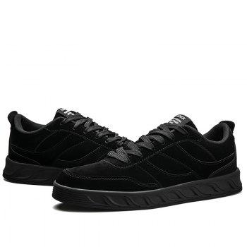 Super Men's Running Shoes Men Fashion Sneakers Mesh Breathable Casual - BLACK 42
