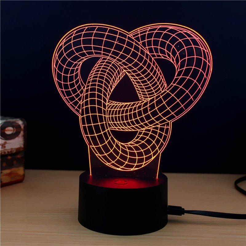 M.Sparkling TD185 Creative Abstract 3D LED Lamp m sparkling td303 creative cartoon 3d led lamp