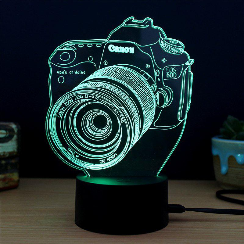 M.Sparkling TD124 Creative Camera3D LED Lamp - COLORFUL