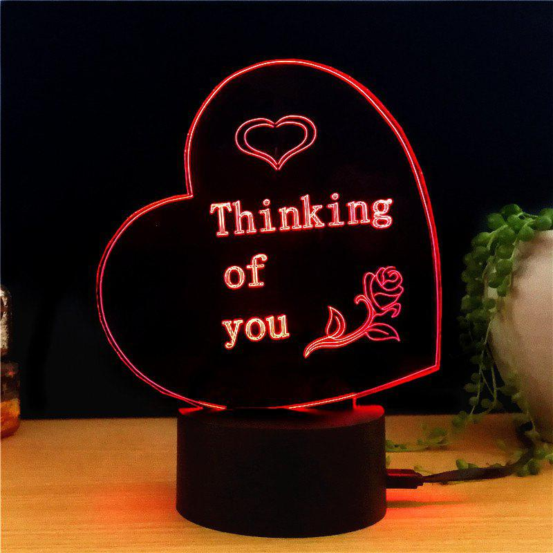 M.Sparkling TD260 Creative Abstract 3D LED Lamp m sparkling td303 creative cartoon 3d led lamp