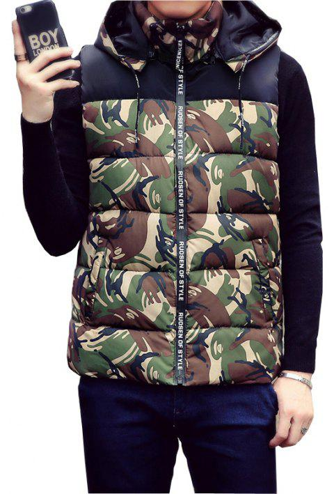 Male and Female Couple Hooded Vest - IVY 2XL