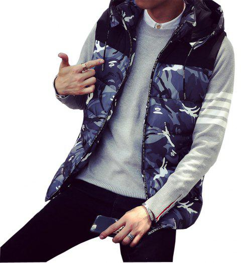 Male and Female Couple Hooded Vest - OYSTER M