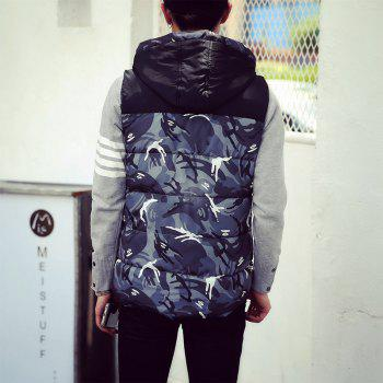 Male and Female Couple Hooded Vest - OYSTER XL