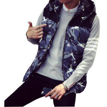 Male and Female Couple Hooded Vest - OYSTER OYSTER