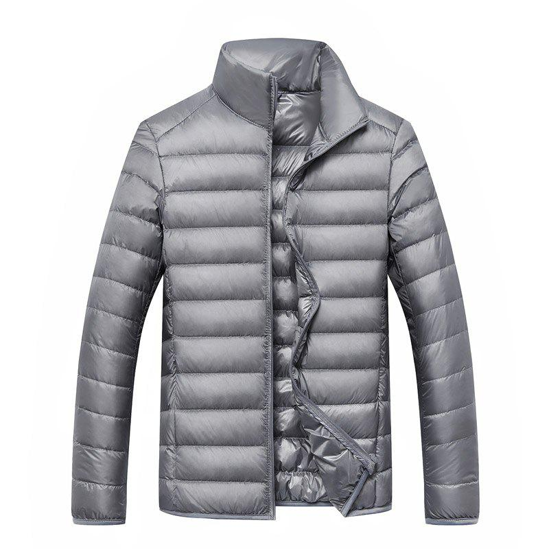 Men's Long Sleeved Down Jacket - OYSTER M