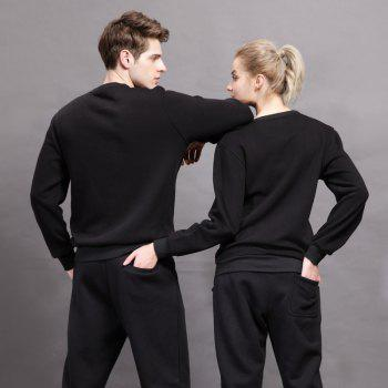 General Sports Men and Women Sweater - BLACK 3XL