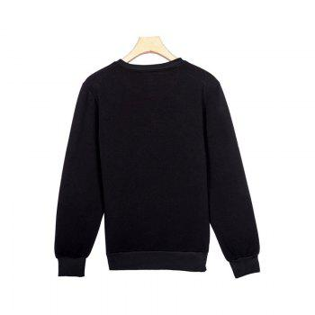 General Sports Men and Women Sweater - BLACK BLACK