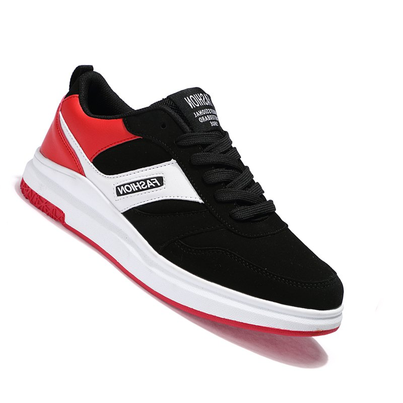 New Arrival Classics Style Men Running Lace Up Sport Outdoor Jogging Walking Athletic Shoes - BLACK/RED 44