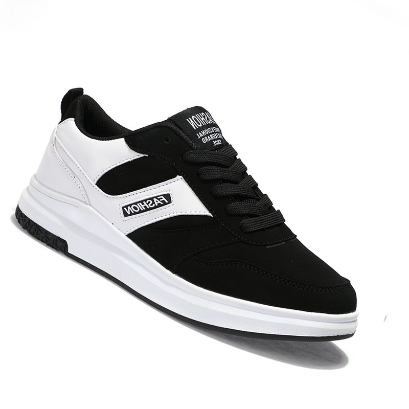 New Arrival Classics Style Men Running Lace Up Sport Outdoor Jogging Walking Athletic Shoes - BLACK WHITE 40
