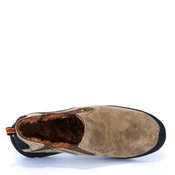Men Loafers Slip on Male Flats Shoes Hiking Mountain Camping Climbing - KHAKI 43
