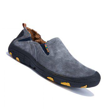 Men Loafers Slip on Male Flats Shoes Hiking Mountain Camping Climbing - GRAY GRAY