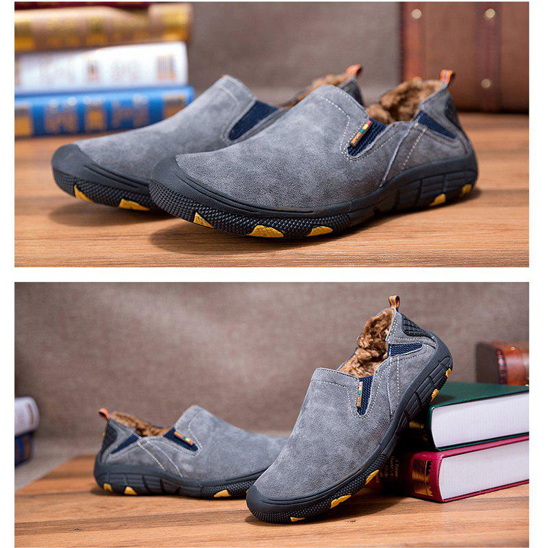 Men Loafers Slip on Male Flats Shoes Hiking Mountain Camping Climbing - GRAY 43