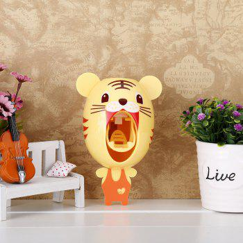 Automatic Toothpaste Squeezing Machine Toothbrush Rack - Little Tiger - YELLOW YELLOW