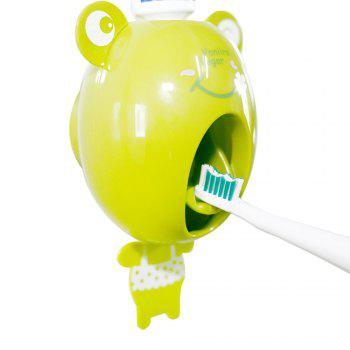 Dentifrice automatique paresseux serrant le support de brosse à dents de dispositif - grenouille - Jaune/ Vert