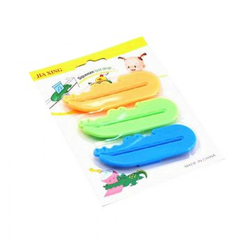 Creative Cartoon Toothpaste Squeezer 3PCS -  BLUE/YELLOW/GREEN