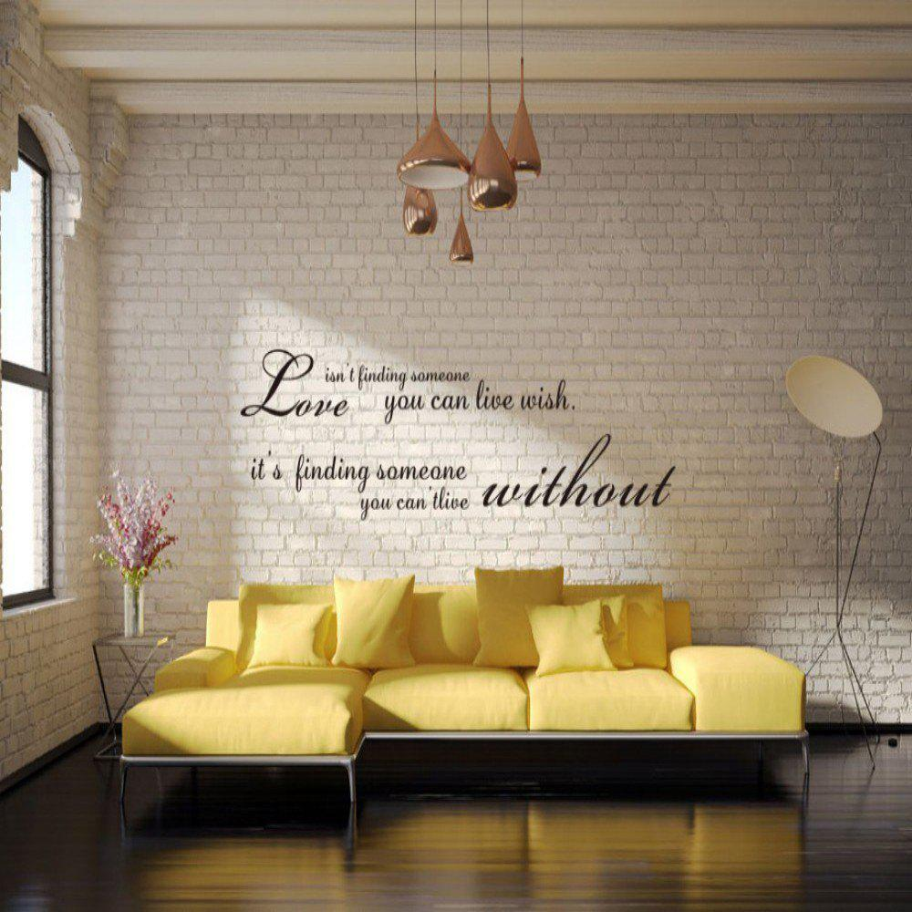 Dsu romantic words english quote art love wall sticker black in dsu romantic words english quote art love wall sticker black amipublicfo Choice Image