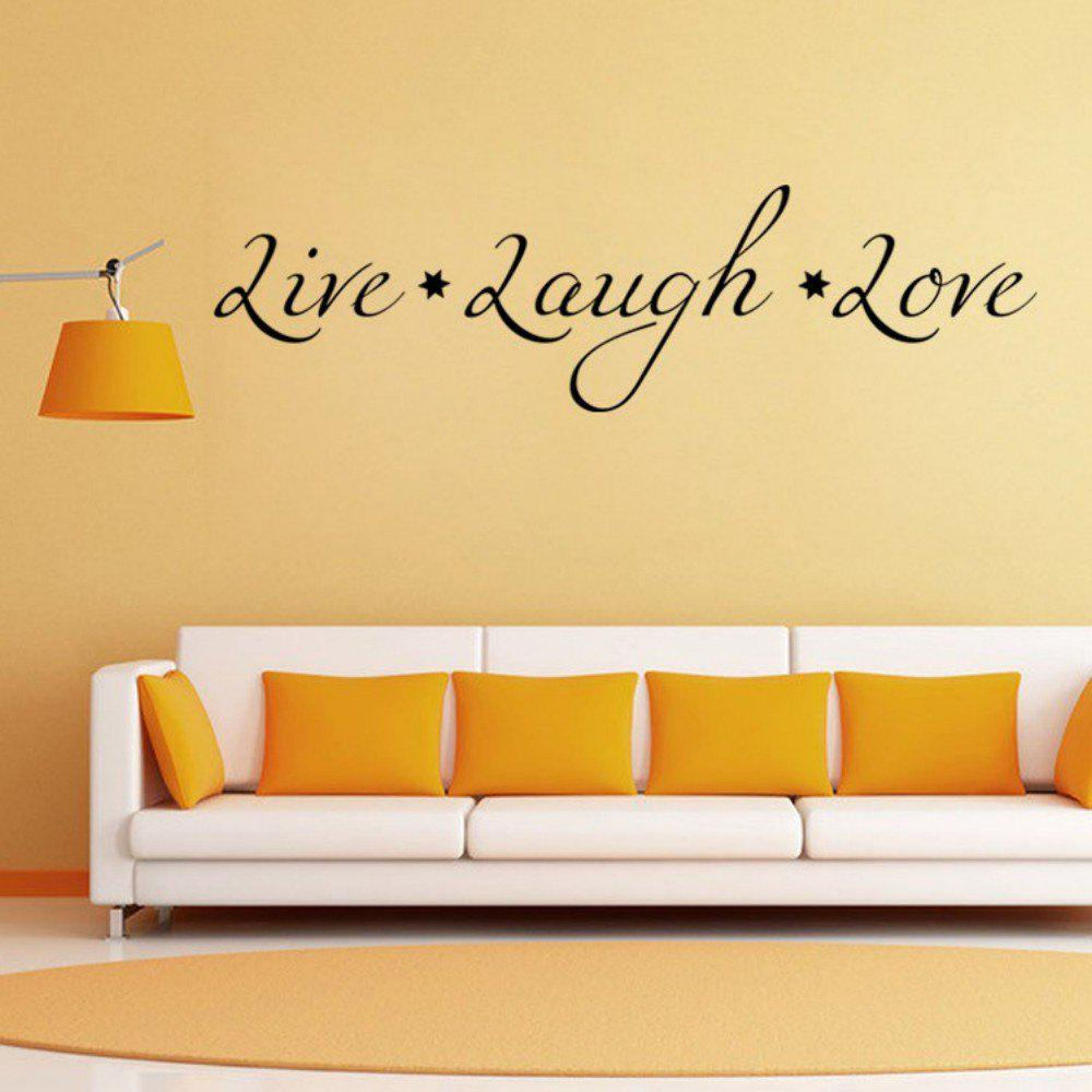 2018 DSU Love Live Laugh English Quote Simple Art Wall Sticker BLACK ...