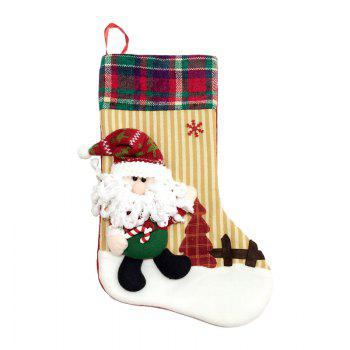 2Pcs Good Quality L Size Christmas Stocking Ornaments - COLORMIX