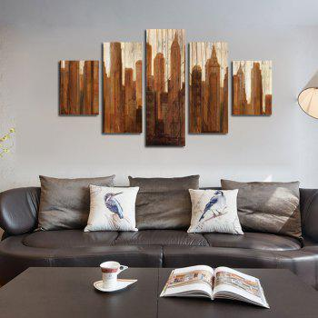 QiaoJiaHuanYuan No Frame Canvas Five-set Painting Woman Living Room Decoration - COLORMIX 30 X 42 X 2 + 30 X 70 X 2 + 30 X 90