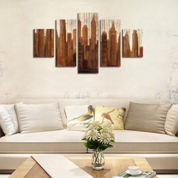 QiaoJiaHuaYuan No Frame Canvas Five-set Painting Abstract Decoration - COLORMIX 30 X 42 X 2 + 30 X 70 X 2 + 30 X 90