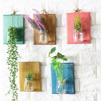 Creative Wall Plants Flowerpot Glass Bottle 1PC - YELLOW