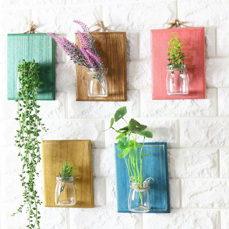 Creative Wall Plants Flowerpot Glass Bottle 1PC - PINK
