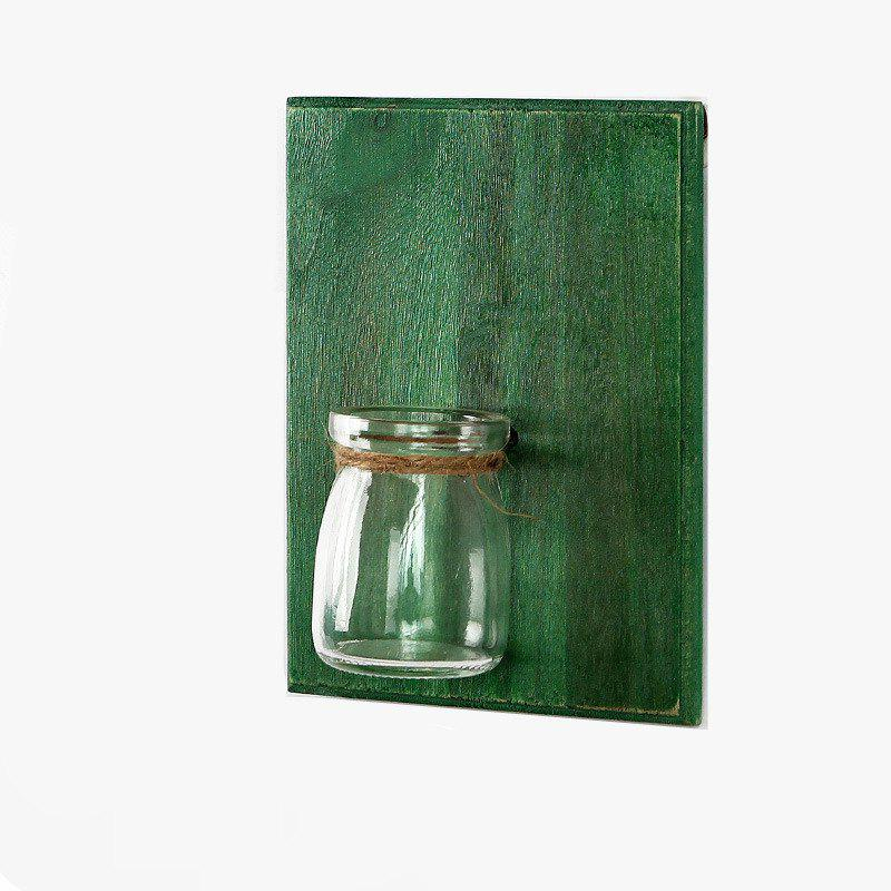 Creative Wall Plants Flowerpot Glass Bottle 1PC - GREEN
