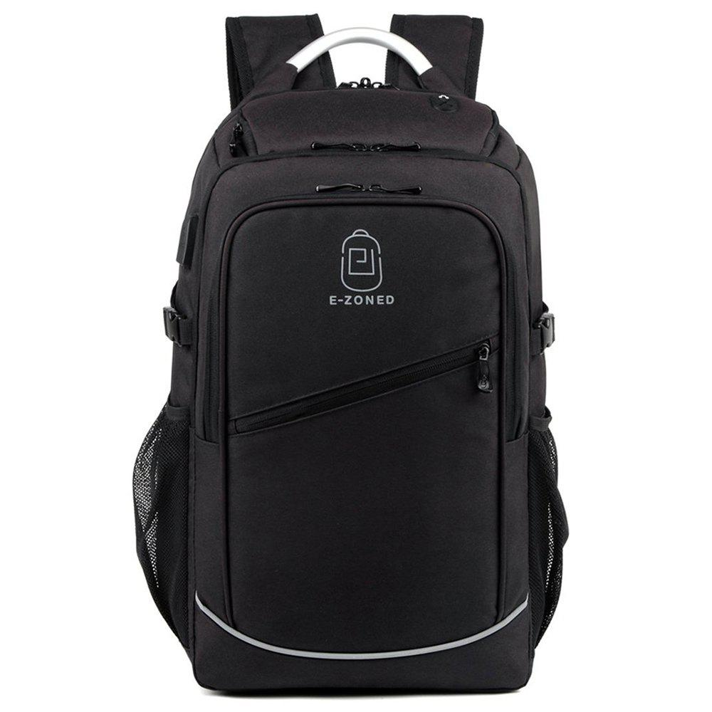 Men'S Business Computer Bags Casual Backpack - BLACK B