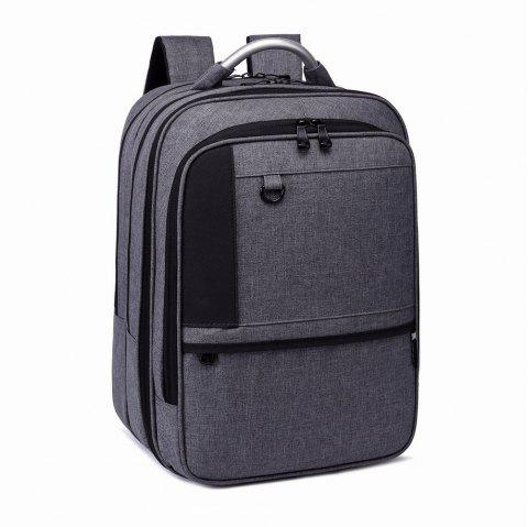 Student Backpack Laptop Bag Outdoor Travel Male - GREY T4503/1001