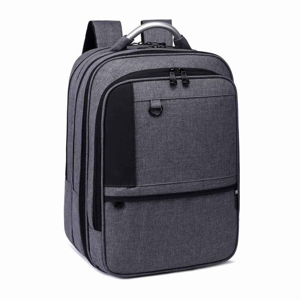 Student Backpack Laptop Bag Outdoor Travel Male - GREY T /
