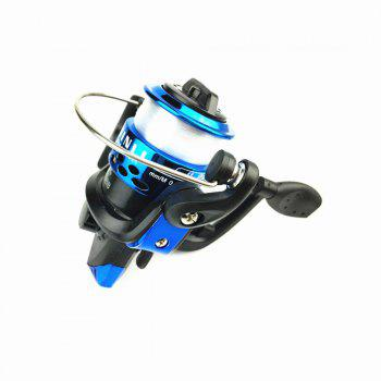 Outdoors Spinning Wheel Type Fishing Reel Plating Hairtail Line 80 Meters - BLUE 1PC