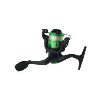Outdoors Spinning Wheel Type Fishing Reel Plating Hairtail Line 80 Meters - GREEN GREEN