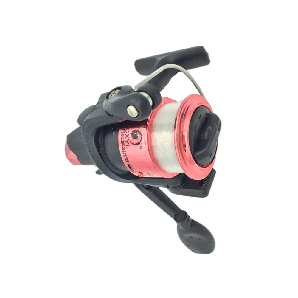 Outdoors Spinning Wheel Type Fishing Reel Plating Hairtail Line 80 Meters - RED 1PC