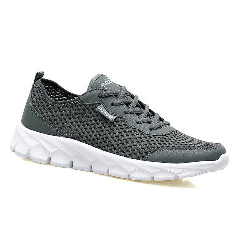 Big Size Couple Style Air Mesh Shoes - DEEP GRAY 35