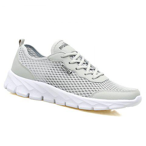 Big Size Couple Style Air Mesh Shoes - LIGHT GRAY 37