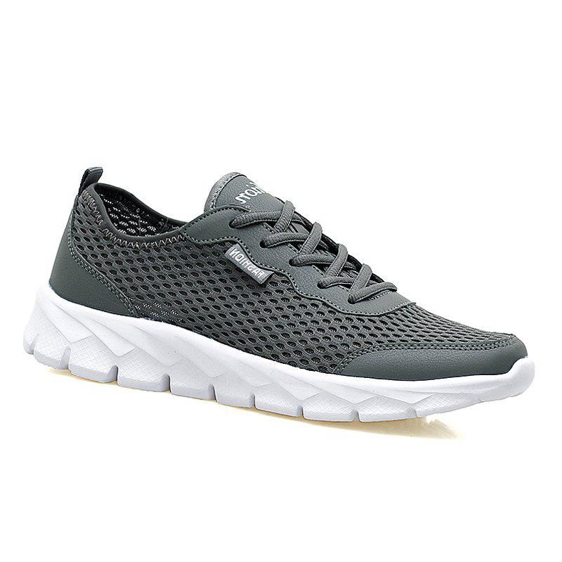 Big Size Couple Style Air Mesh Shoes - DEEP GRAY 38