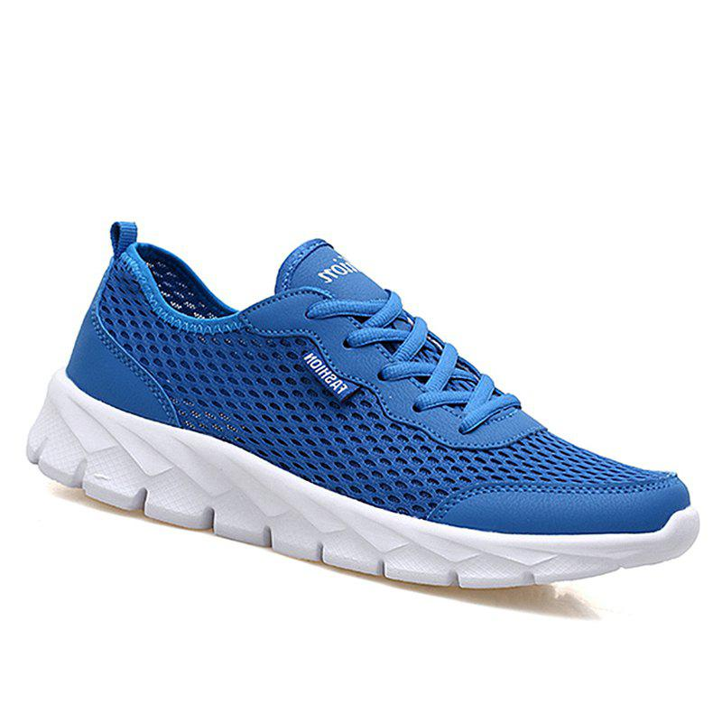 Big Size Couple Style Air Mesh Shoes - BLUE 37